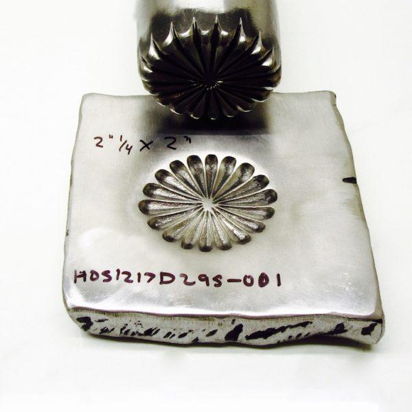 Repousse Round Stamp Design